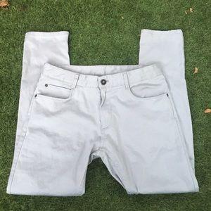 Zara Men's Light Grey Slim Fit Chinos